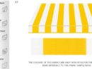 Tempotest Para Yellow-White (37) Awning Striped Fabric